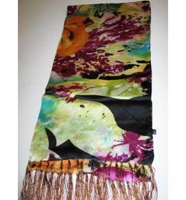 Silk scarf 2 layered - made of two layers of silk