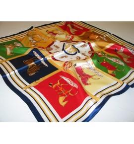 Small Scarf / Larger Silk Pocket Square 100% Natural Silk