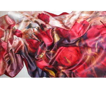 Silk & Cashmere Scarves and Shawls - Elegant Scarves 2 Layered 2 Sided
